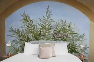 Wandmalerei schlafzimmer