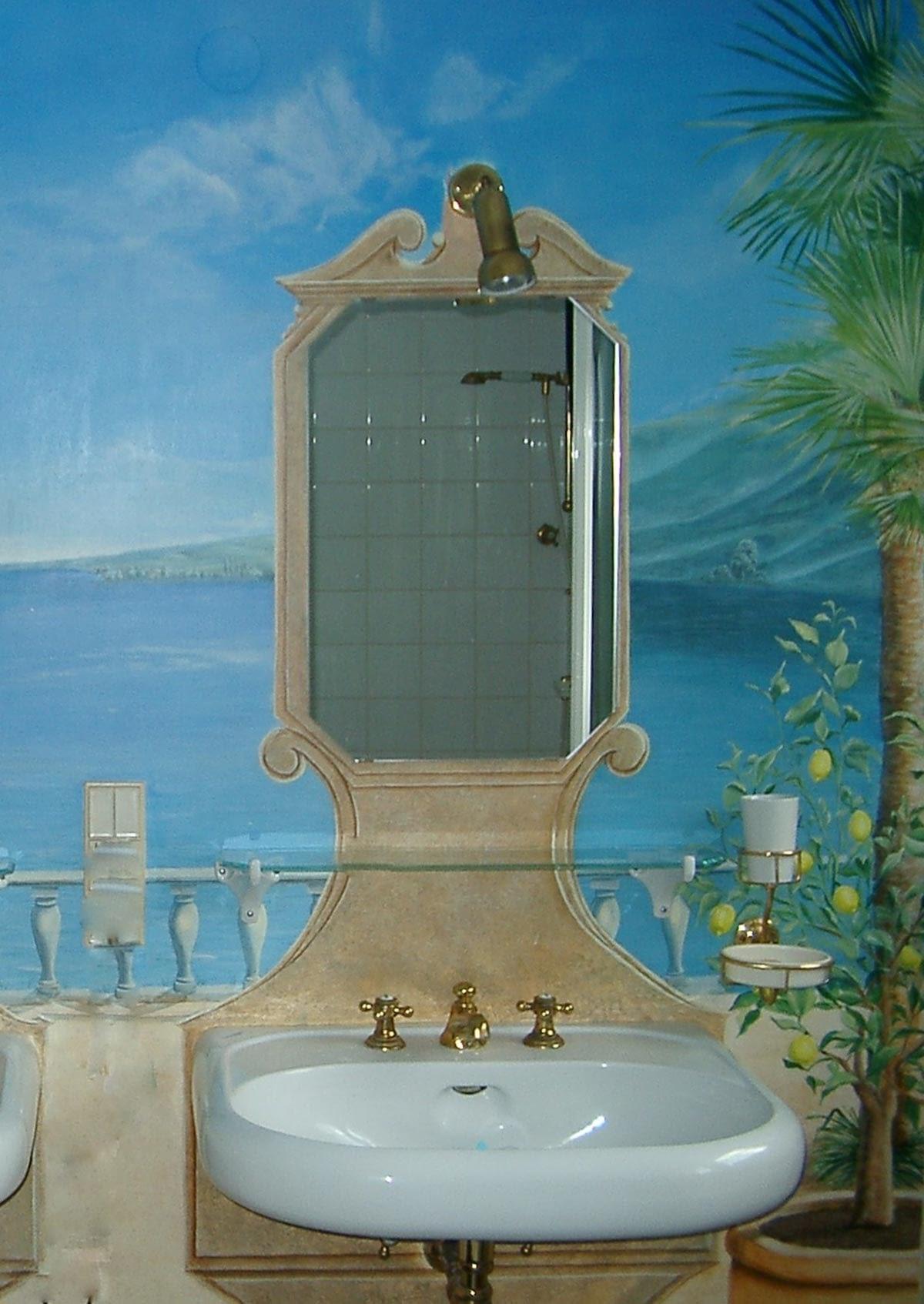 Badezimmer in einer Villa