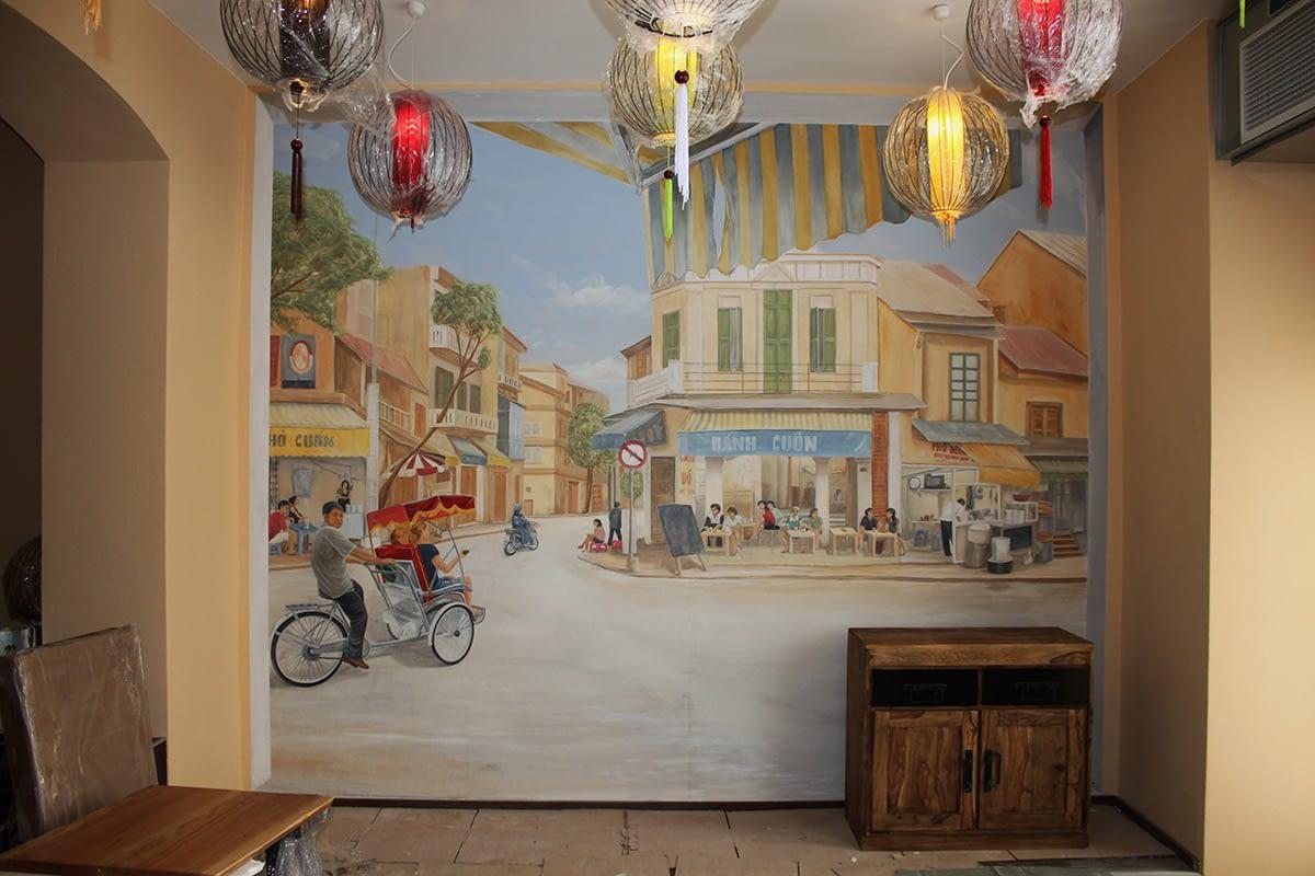 Restaurant in München: Vietnamesische Straßenszenen