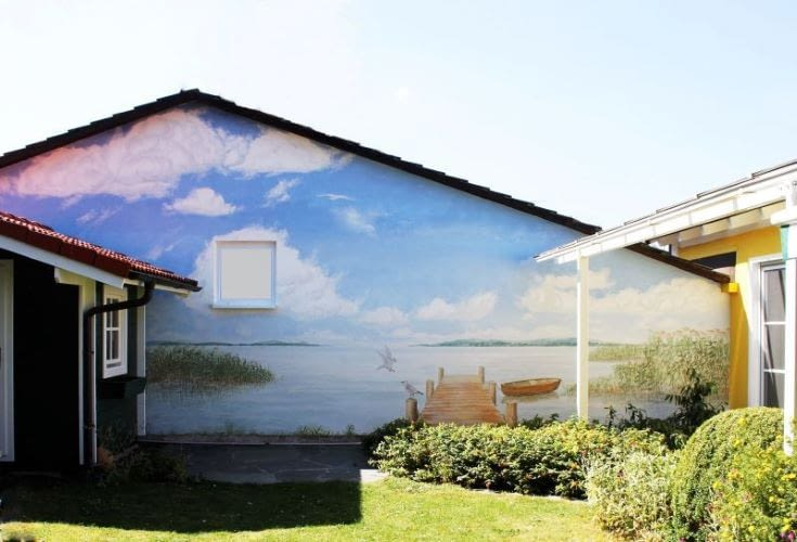 Fassadenmalerei nachher